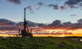 Drill Rig Sunset Royalty Free Stock Image