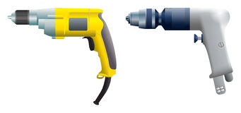 Drill and screwdriver Stock Photos