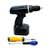 Drill and screwdriver Royalty Free Stock Images