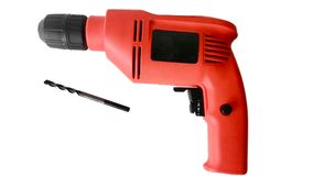 Drill separated from the background with accessories Stock Photos