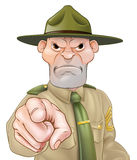 Drill Sergeant Pointing Stock Photography