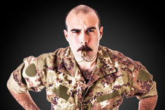 Drill Sergeant with whistle Royalty Free Stock Images