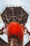 Drill Ship in Sembawang Shipyard Royalty Free Stock Photos