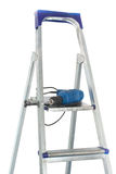 Drill and stepladder Stock Photo