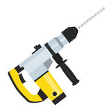 Drill tool with drill bit icon. Household electric instrument  Royalty Free Stock Photography
