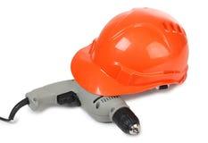 Drill Whit Helmet Stock Images