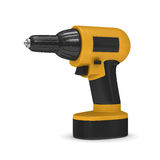 Drill on white background. Isolated 3D. Image Royalty Free Stock Photography