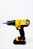 Drill Yellow and Black. A yellow and black drill/driver. Logo and text removed Stock Images