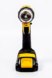 Drill Yellow and Black pointed at you Royalty Free Stock Photography