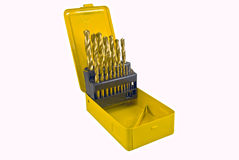 Drill in yellow box Royalty Free Stock Photo