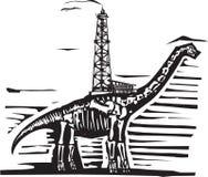 Drillborr för olje- brunn för Brontosaurus Arkivbild