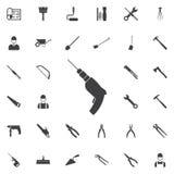 Drillborrsymbol royaltyfri illustrationer