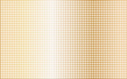 Drilled Brass Plate. A polished metallic plate with several drill holes as a backdrop Stock Photography