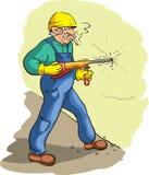 Driller worker Stock Photo