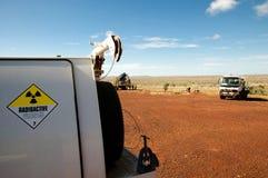 Drillhole Surveying - Outback Australia Royalty Free Stock Images