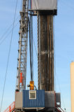 Drilling 037. A detail view of an oil drilling station Royalty Free Stock Images