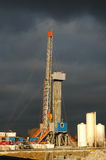 Drilling 051. A oil drilling station before heavy wheather Stock Image