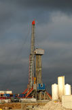 Drilling 053. A oil drilling station at heavy wheather royalty free stock images