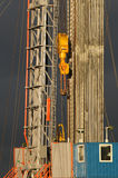 Drilling 065. A oildrilling station at heavy wheather stock images