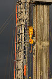 Drilling 066. A detail view of an oil drilling station royalty free stock photography