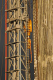 Drilling 072. A detail view at a oil drilling station royalty free stock images