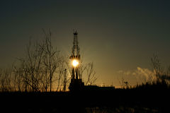 Drilling. Unit for  wells for oil in the Far North of Russia Royalty Free Stock Photography