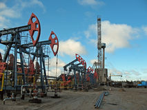 Drilling. Oil industry. Drilling of oil well in West Siberia Stock Photo