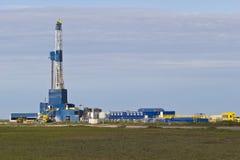 Drilling in Alaska stock images