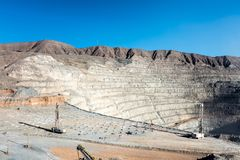 Free Drilling And Explosive Loading At Open Pit Copper Mine Royalty Free Stock Photo - 114083045
