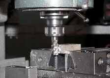 Drilling And Milling CNC In Workshop Royalty Free Stock Images