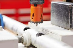 Drilling by bore Stock Photos