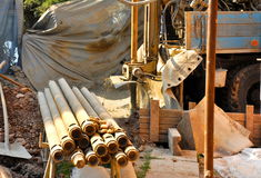 Drilling construction Royalty Free Stock Photo