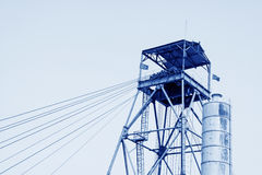Drilling derrick in a iron mine Royalty Free Stock Images