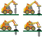 Drilling equipment. Heavy construction machines Stock Photography