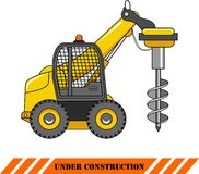 Drilling equipment. Heavy construction machines Stock Image