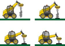 Drilling equipment. Heavy construction machines Royalty Free Stock Image