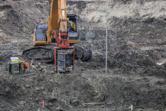 Drilling equipment for standard penetration tests Royalty Free Stock Image