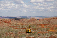 Drilling Field for Iron Ore Exploration - Pilbara - Australia. Field for Iron Ore Exploration in the Pilbara - Australia royalty free stock photography