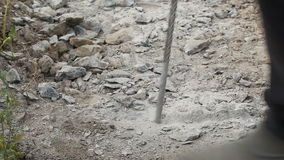 Drilling hole into concrete stock video