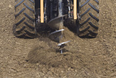 Drilling Hole with Tractor Stock Image