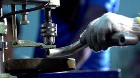 Drilling machine stock video