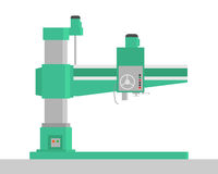 Drilling machine. Metal drilling machine. Workplace. Flat design. Vector illustration Royalty Free Stock Photo