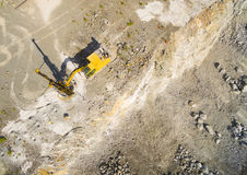 Drilling machine in the mine. Royalty Free Stock Photo