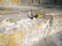 Drilling machine in the mine. Stock Photos