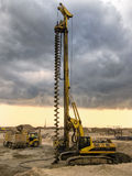 Drilling machine. Ready to work on a cloudy sky Stock Photography