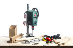 Drilling machine and table tools. Stock Photo