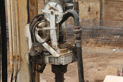 Drilling machine at work. Swivel and auger Stock Photo
