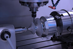 Drilling machine workpiece Stock Image