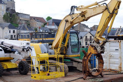 Drilling machines on port Royalty Free Stock Photos