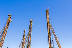 Drilling machines towers. Royalty Free Stock Photo